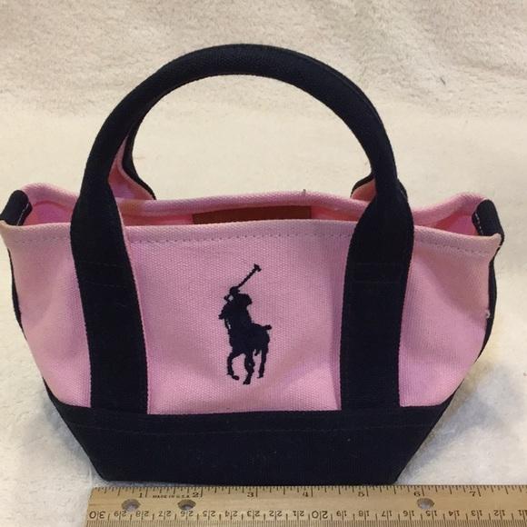 208ca6136358 Small heavyweight Polo canvas bag pink   blue. M 5a5cf28e3316276a2ed79c23